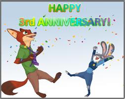HAPPY 3 YEARS ANNIVERSARY!!! by TheGorySaint