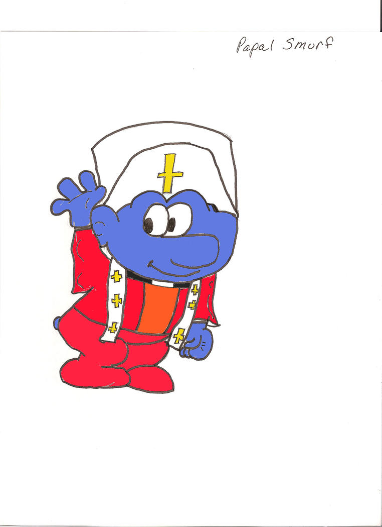 [Image: Papal_Smurf_by_ZhaneAugustine.jpg]