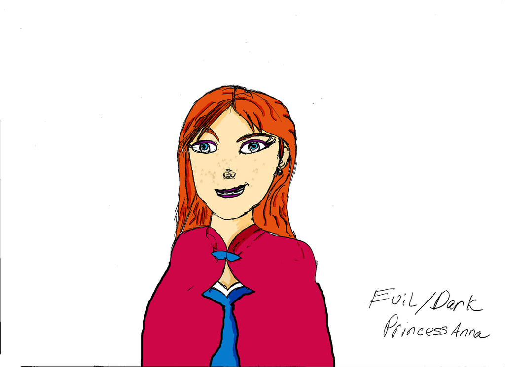 Evil Princeess Anna of Arendelle by ZhaneAugustine
