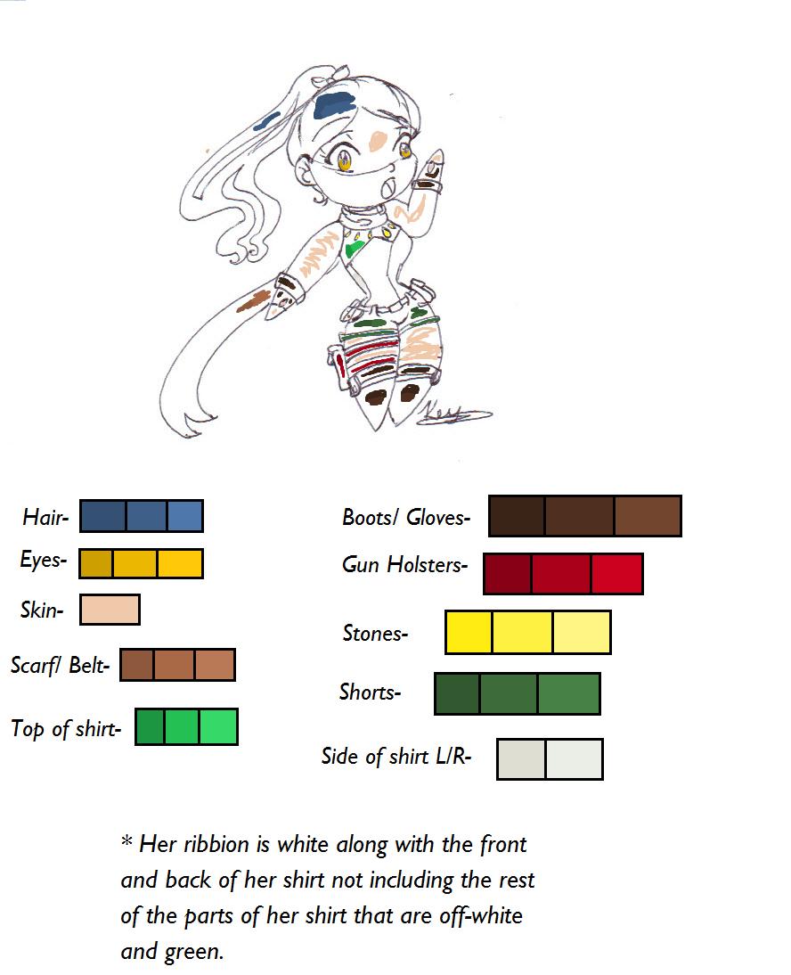 Katsumi Okayama Color sheet by KatMonert