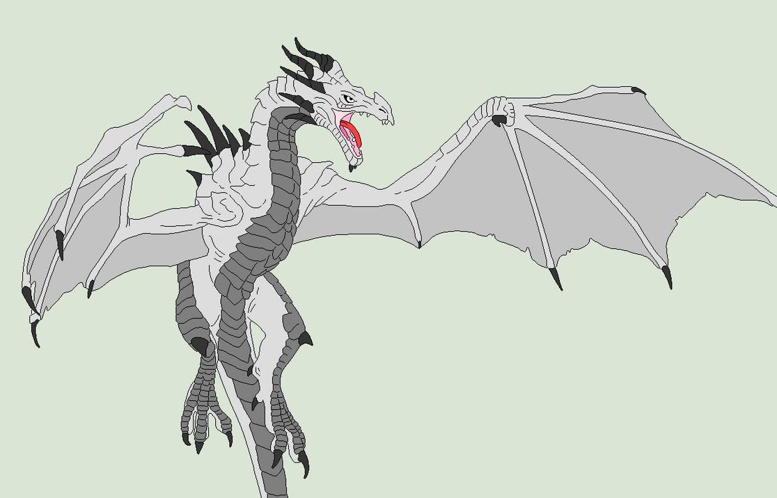 Line Art Dragon : Traced base skyrim dragon by shadow bases on deviantart