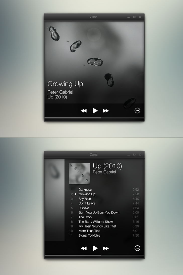 imaginary zune player ui design ideas by nevralgic on deviantart