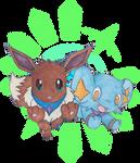 Pokemon Eevee and Shinx by Animieangel