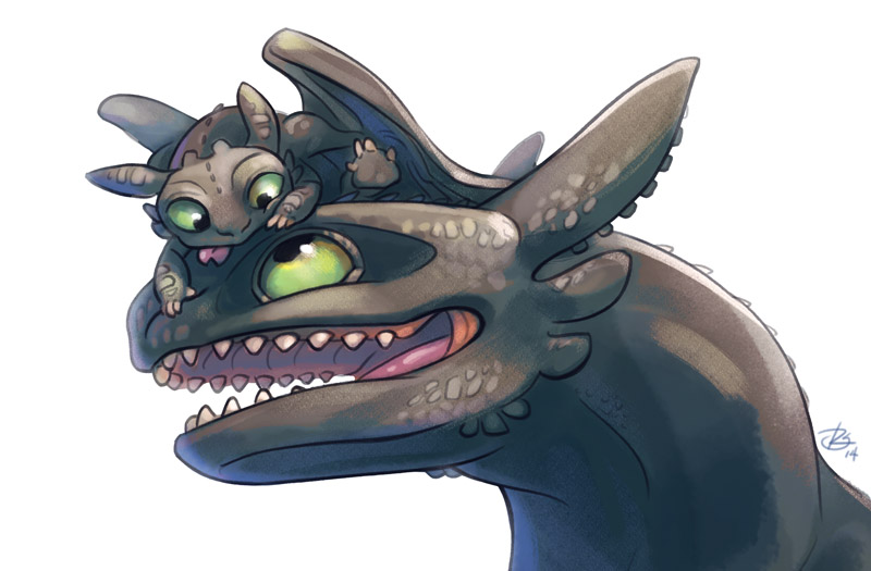 Toothless And Night Fury Hatchling By Rosiesinner On Deviantart
