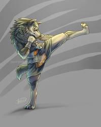 Do It Again - Kickboxing Wolf Link by rosiesinner