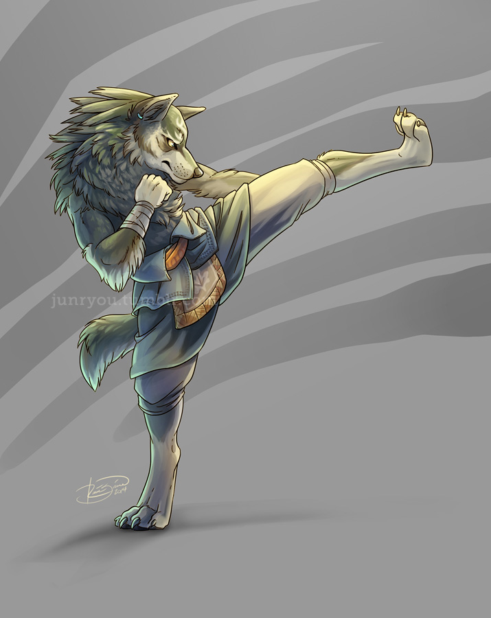 Do It Again - Kickboxing Wolf Link by Junryou-na-Kokoro