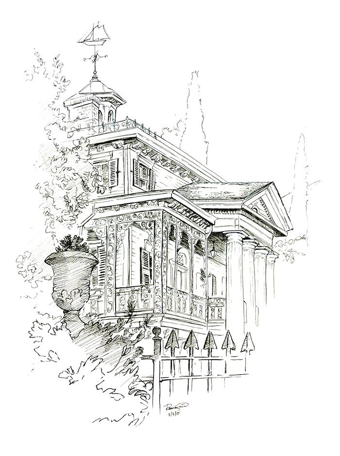 Disneyland Studies // The Haunted Mansion by Junryou-na-Kokoro