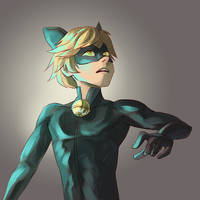 Chat Noir by rosiesinner