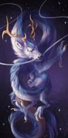 Cosmic Dragon by rosiesinner
