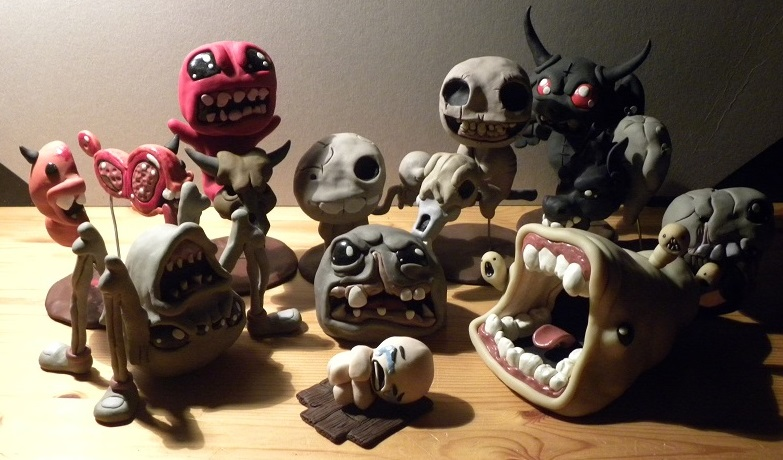 The Binding of Isaac display by Awasai