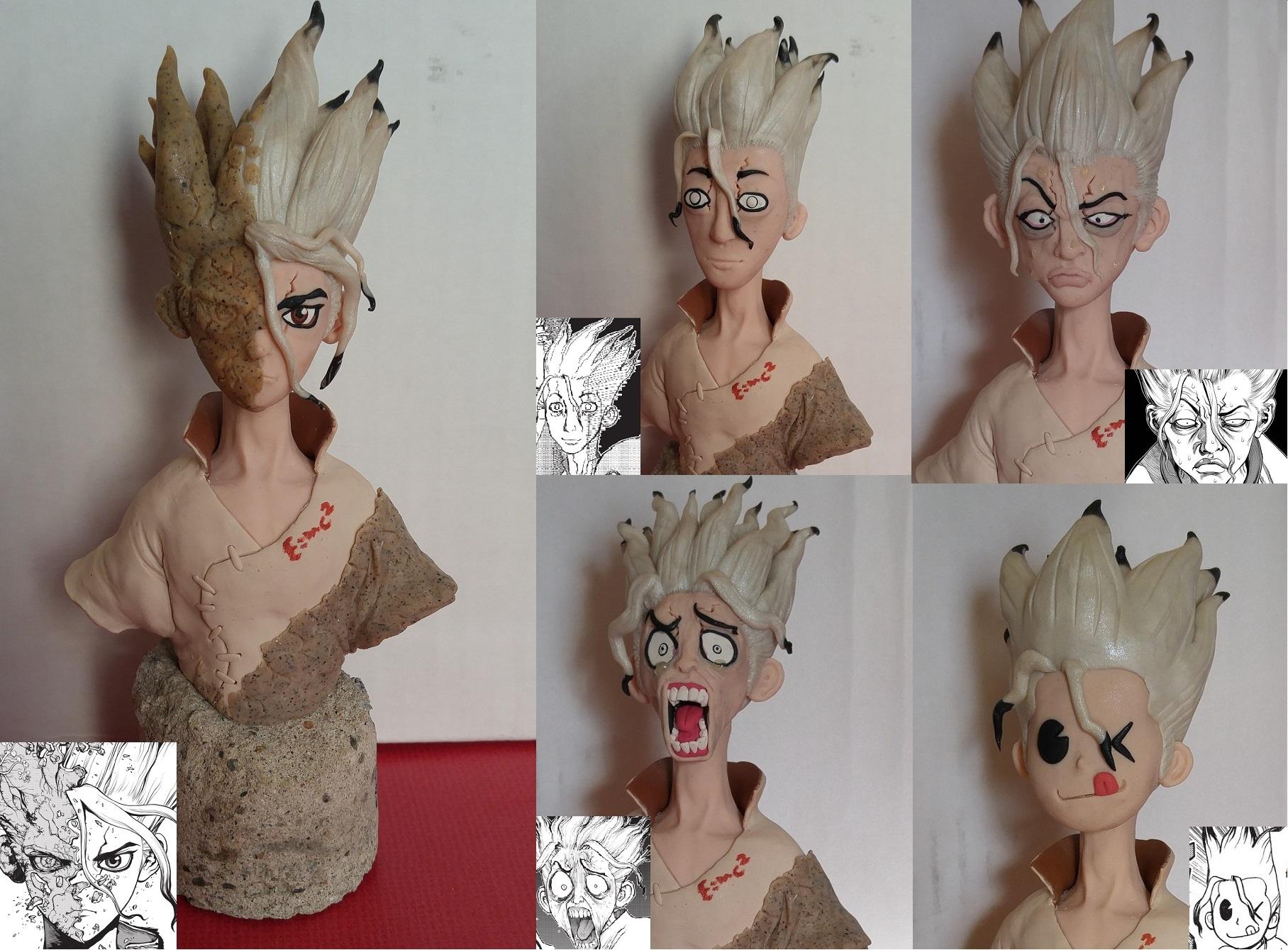 Faces of Senku (Dr. Stone)