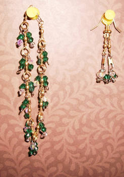 green and clear crystal set
