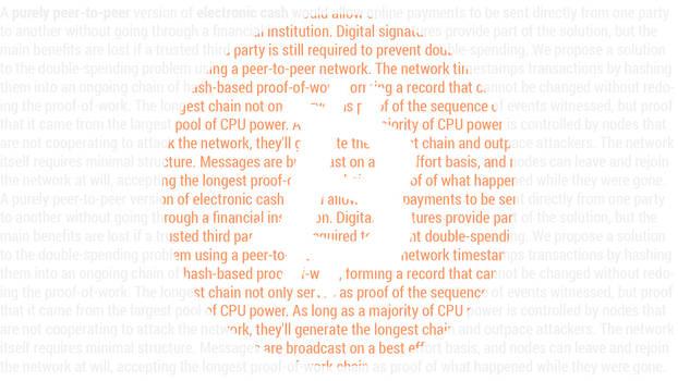 Bitcoin Satoshi Paper (Wallpaper Light)