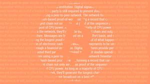 Bitcoin Satoshi Paper (Wallpaper Orange Light) by DrasticRaven