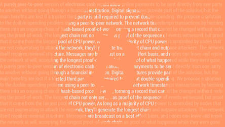 Bitcoin Satoshi Paper (Wallpaper Orange Light)