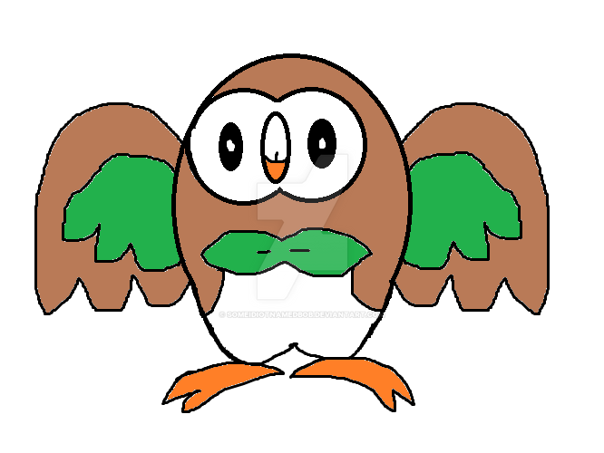 Rowlet by SomeIdiotNamedBob