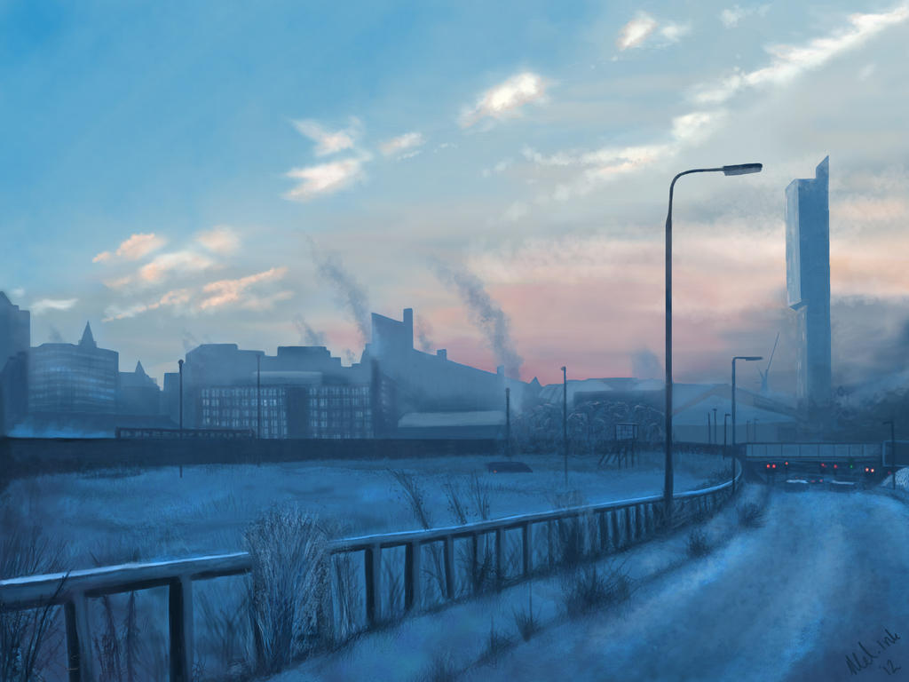 Manchester in Winter by ChaosAcathla