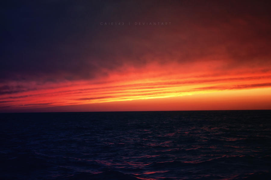 Sunset Over North Sea by caie143
