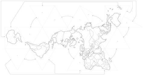 World Map - Buckminster Fuller projection