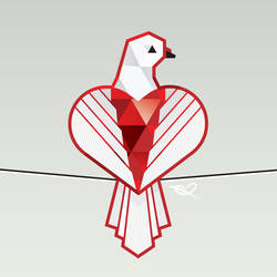 Dove sitting on a wire