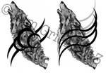 / Good/Evil Wolf Tribal - Alt. Designs /