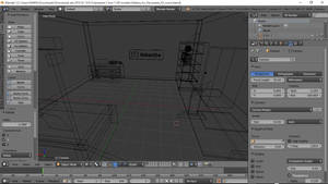 3DShe room with Sub button made in blender by 3DShe