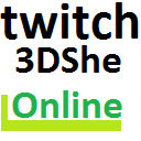 3DShe live videos on twitch