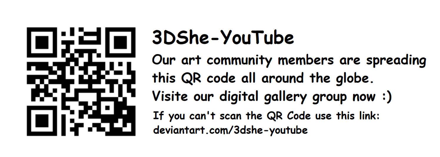 3DShe-YouTube QR CODE (updated) by 3DShe