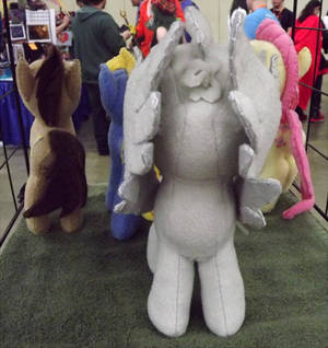 Doctor Who Weeping Angel Pony Filly Front View