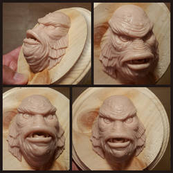 Creature From the Black Lagoon sculpture
