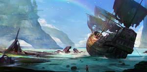 Pirate scenes by norwata