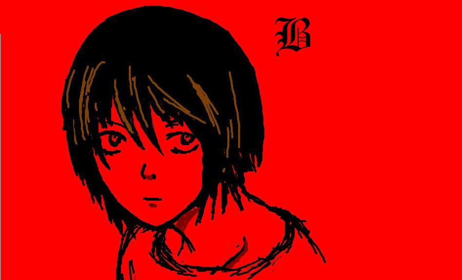 BB in Red on Paint by wee-free-fayries