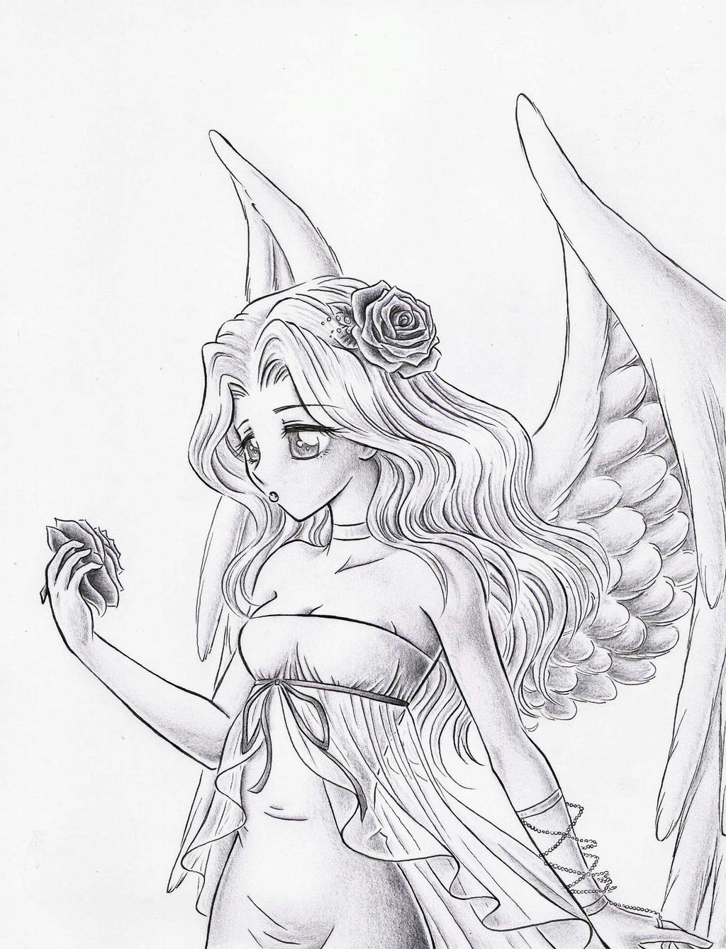 anime coloring pages angels - photo#7