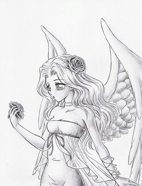 Easy Angel Wings Drawing | Car Interior Design