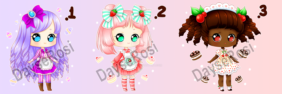 Fruit Dessert Bbys Adopts - OPEN 1 and 3 by DayseRosi