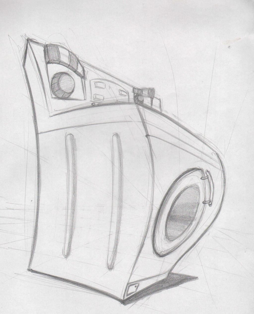 Washing Machine Drawing ~ Comiccon sketch the washing machine by mokuu on deviantart