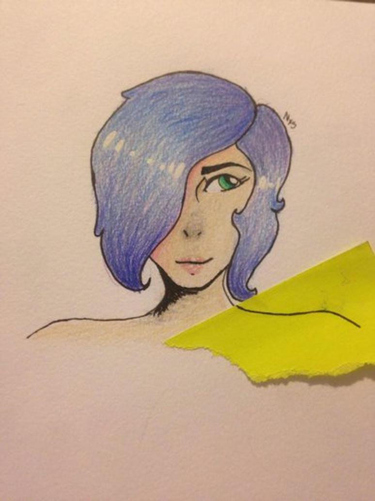 Blue hair  by NexiusxHeartsx