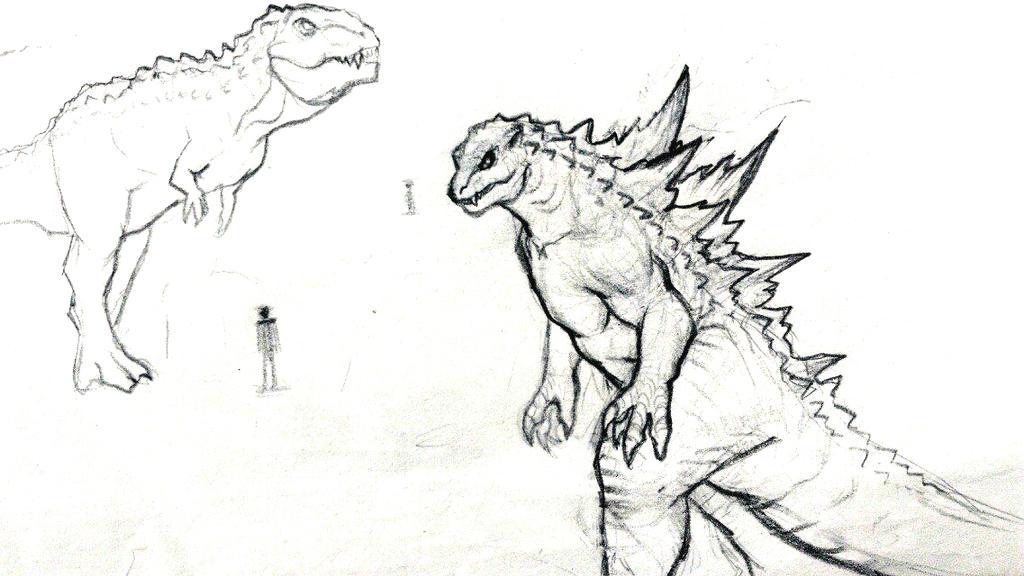Gojira et Gojirasaurus by FinalGojiTTOR