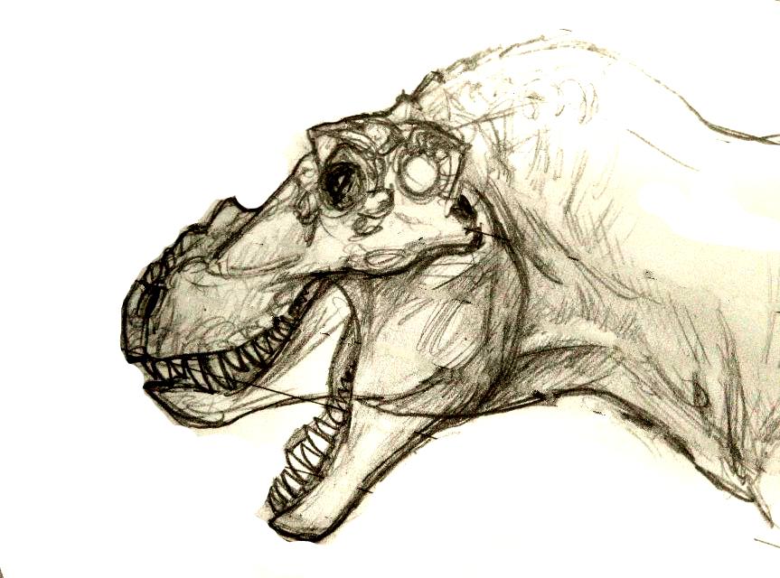 T.rex head by FinalGojiTTOR