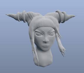 Juri Sculpt WIP by vilesyn