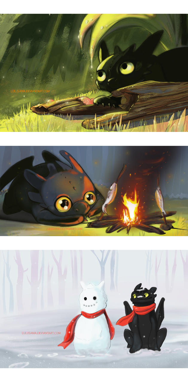 Toothless practice by Lulusama