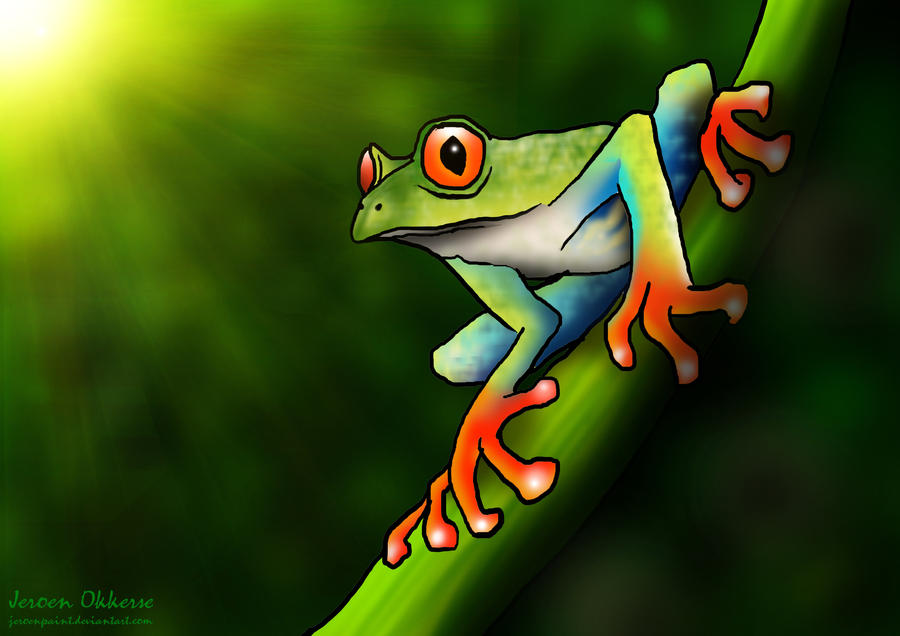 Tree Frog by jeroenpaint on DeviantArt