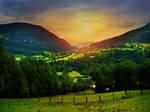 Sunset in Austria