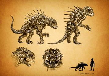 Creature concept by jeroenpaint