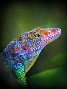 Lizard Painting (Acrylic)