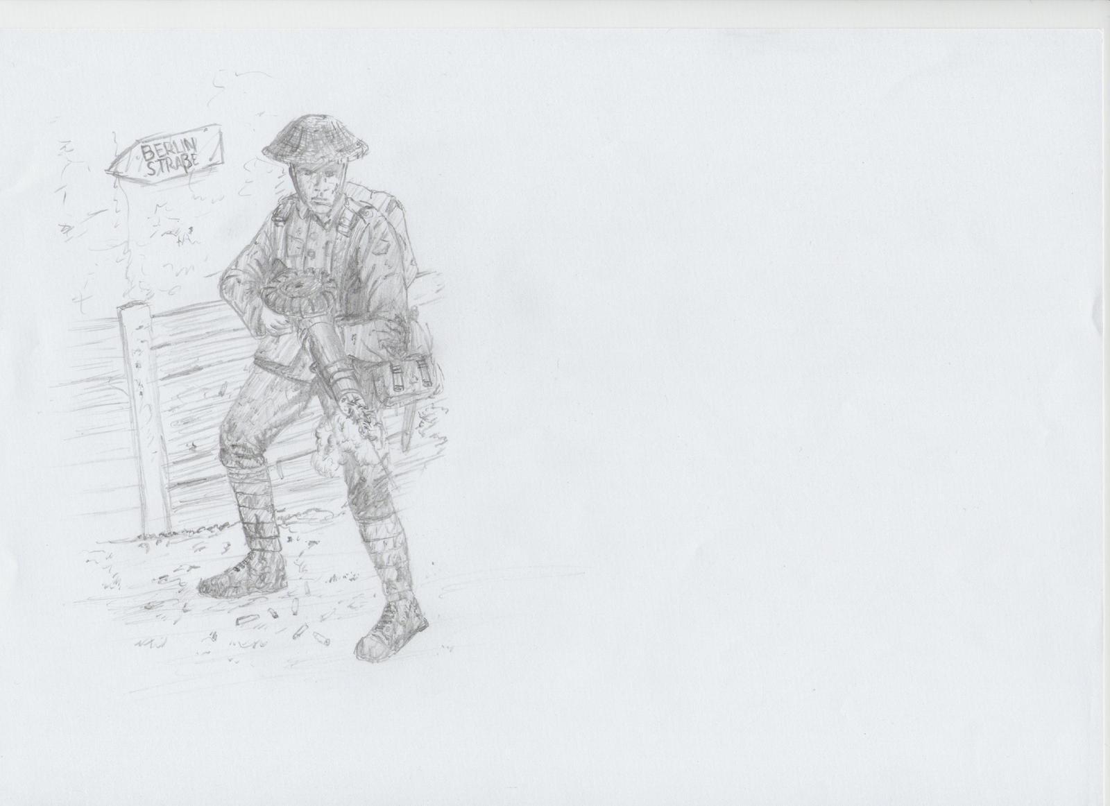 Lewis Gunner, 1916 by VassKholzovf