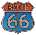 Rusty Route 66 Metal Sign #1