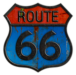 Rusty Route 66 Metal Sign #2