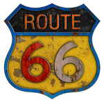 Rusty Route 66 Metal Sign #3