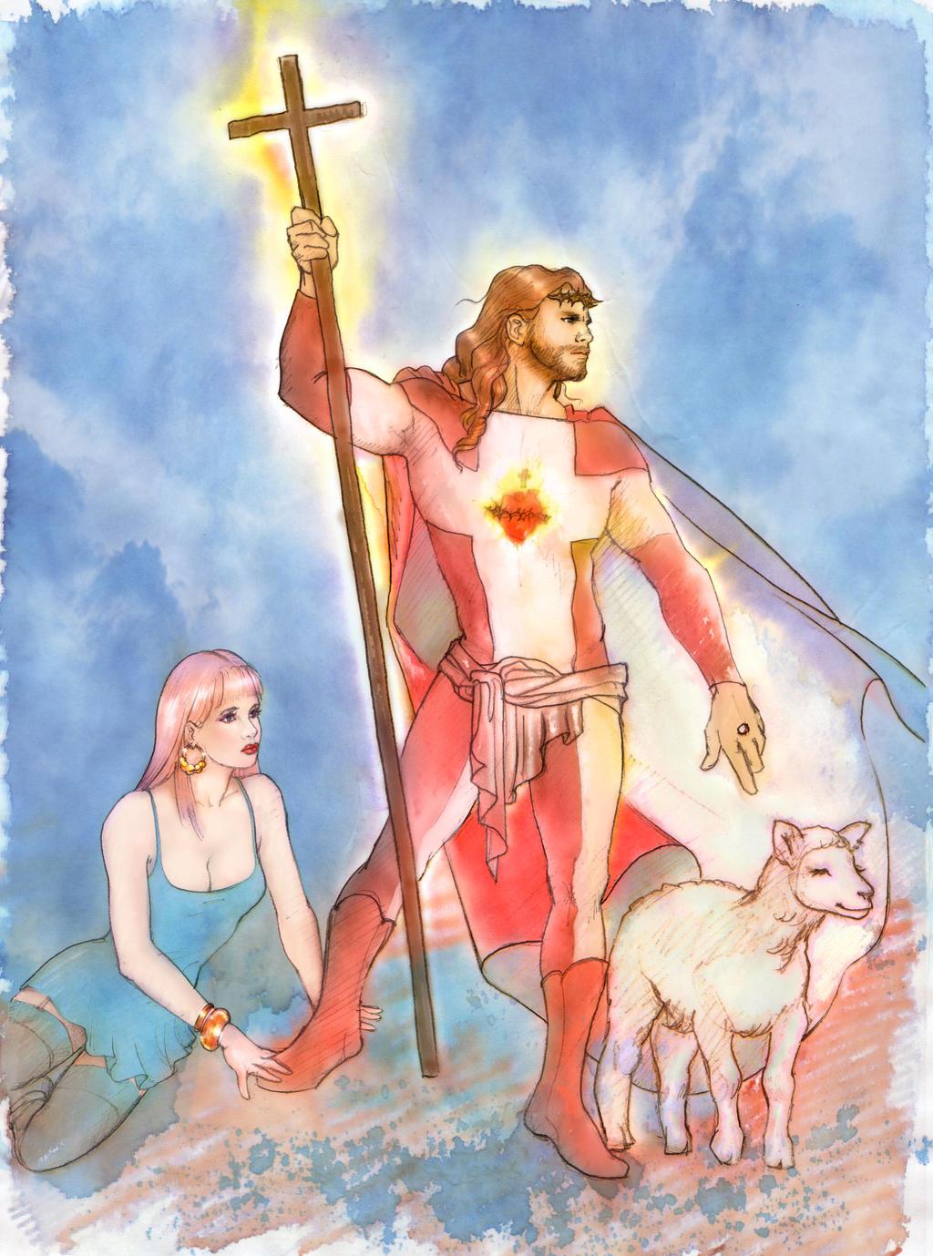 Super Jesus_colour trial by gallygan